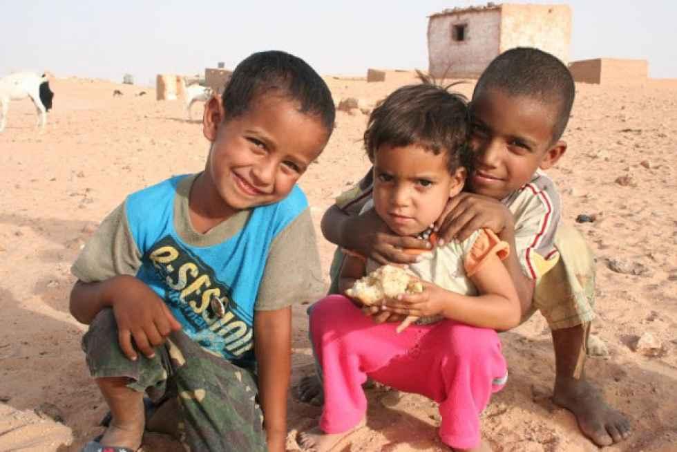 Encuentro de la consejera de Familia con los niños saharauis