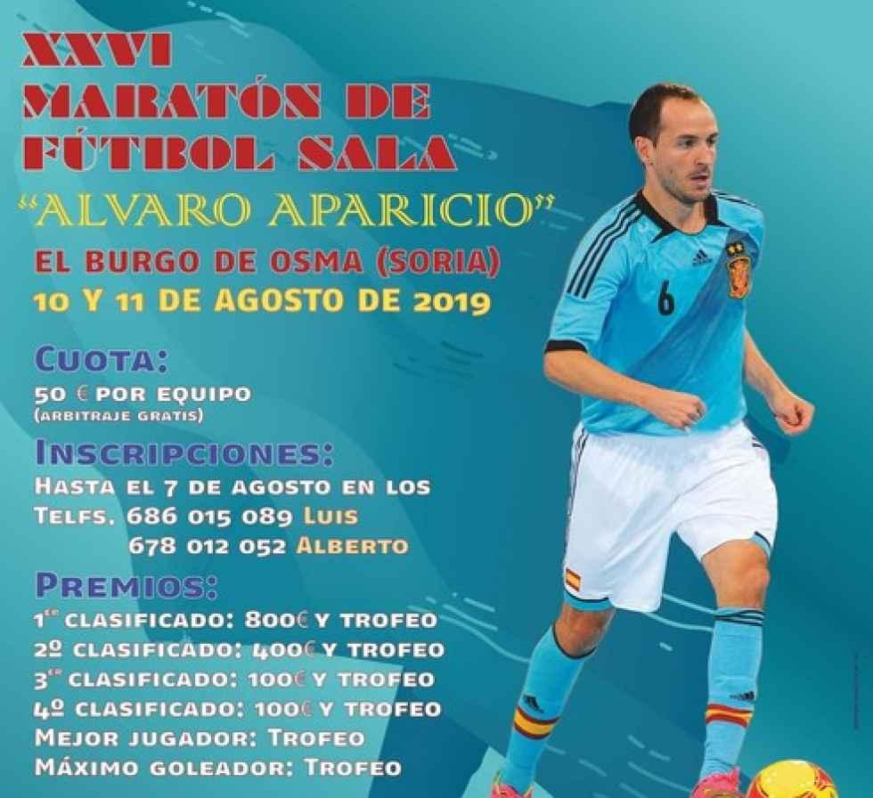 "XXVI edición de maratón de fútbol sala ""Álvaro Aparicio"""