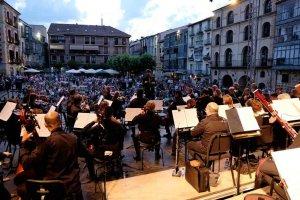 Concierto de la OSCyL en la plaza Mayor de Soria