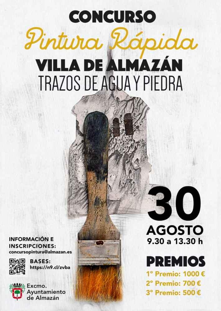 Almazán organiza su VII Concurso de Pintura rápida