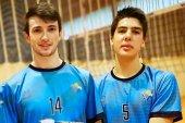 Lucas Lorente y Juanfran París, en el Campeonato de España de voley playa