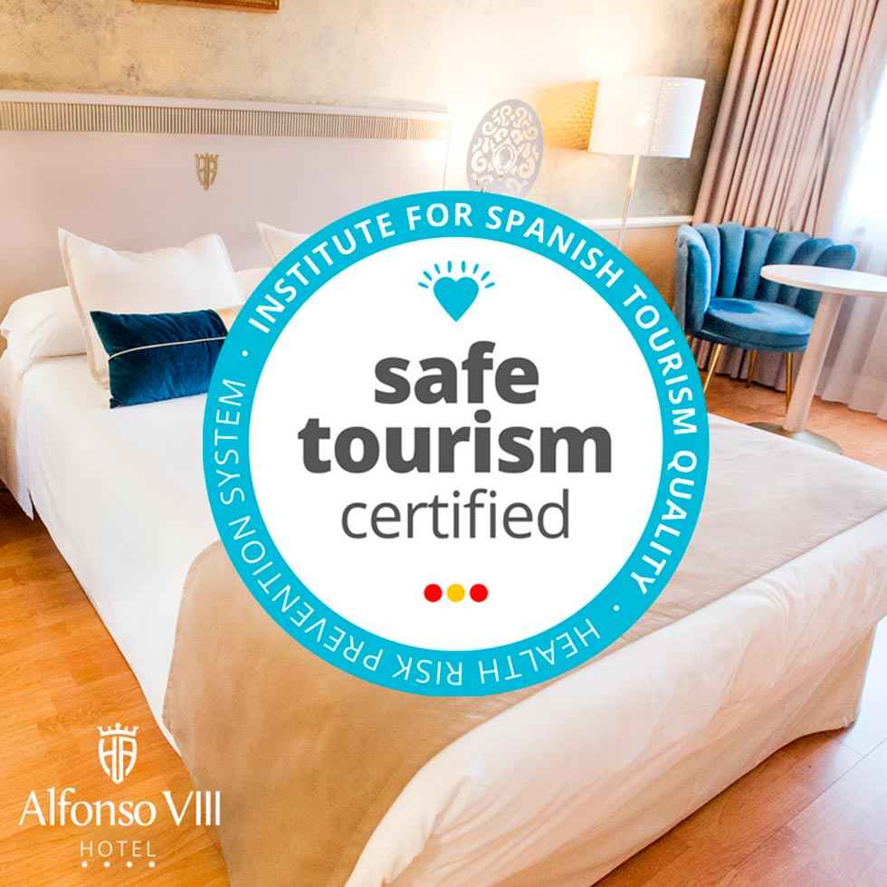 "El hotel Alfonso VIII, con sello ""Safe Tourism Certified"""