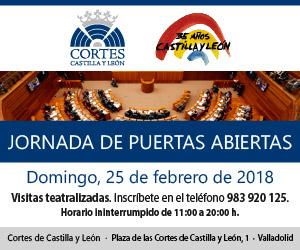 Jornada de puertas abiertas. Cortes de Castilla y León